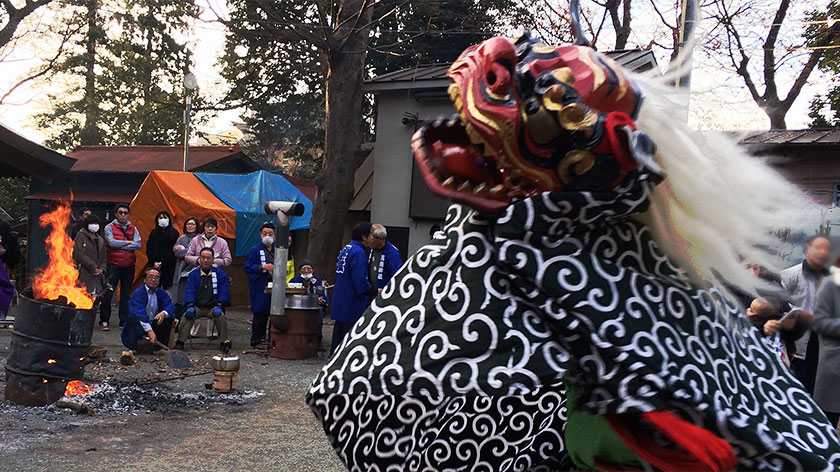 初詣は馬絹神社へ