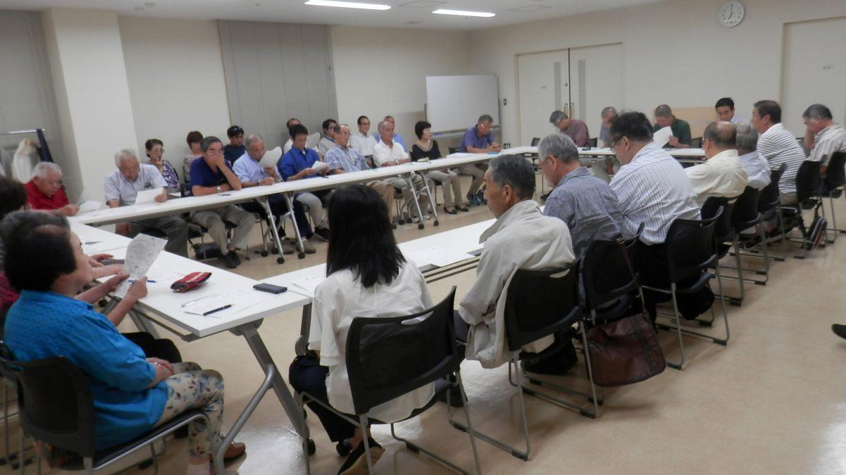 馬絹町内会理事以上役員会を開催