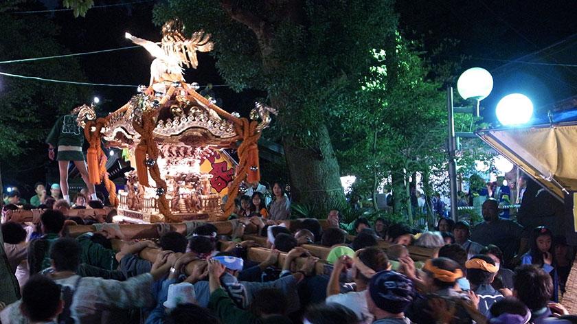 秋季例大祭神輿宮入り